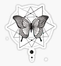 ink geometric butterfly Sticker