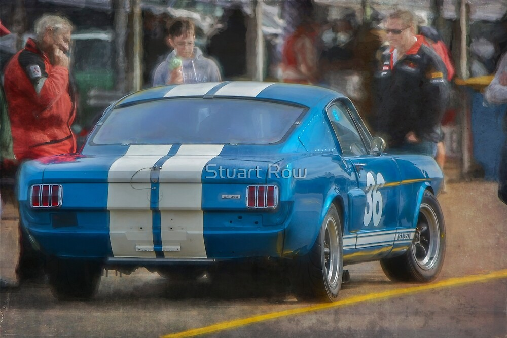 Blue Shelby GT350 Mustang by Stuart Row