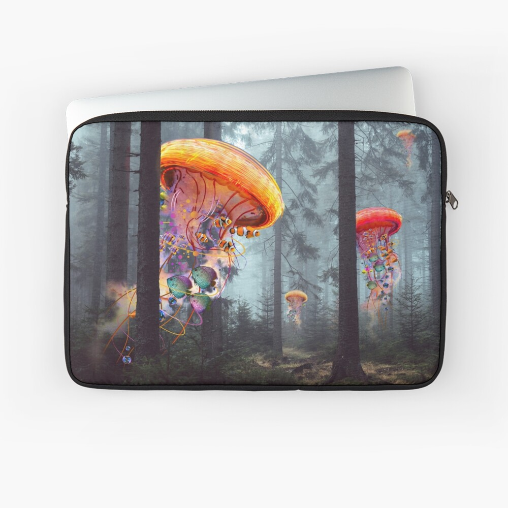 Forest of Jellyfish Worlds Laptop Sleeve