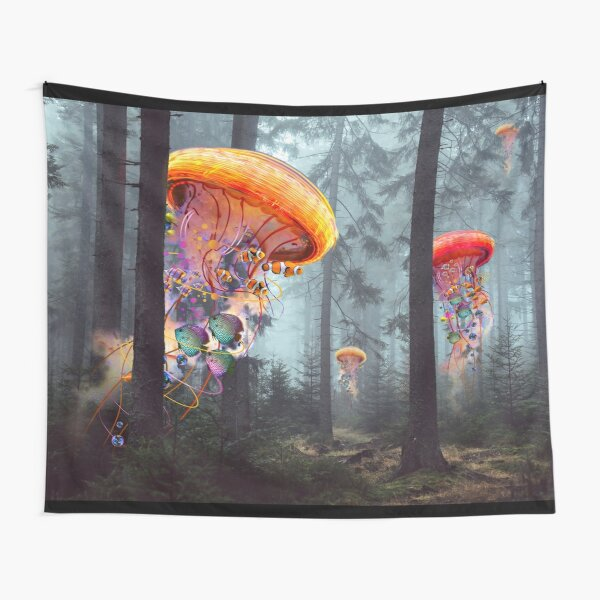 Forest of Jellyfish Worlds Tapestry