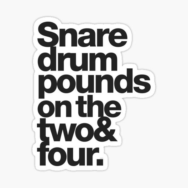 Purple Verse: Snare Drum on 2 & 4 Sticker