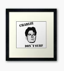 Charlie don't surf - Cool Mashup Framed Print
