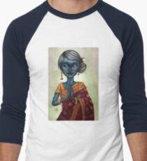 Shiva Priestess Men's Baseball ¾ T-Shirt