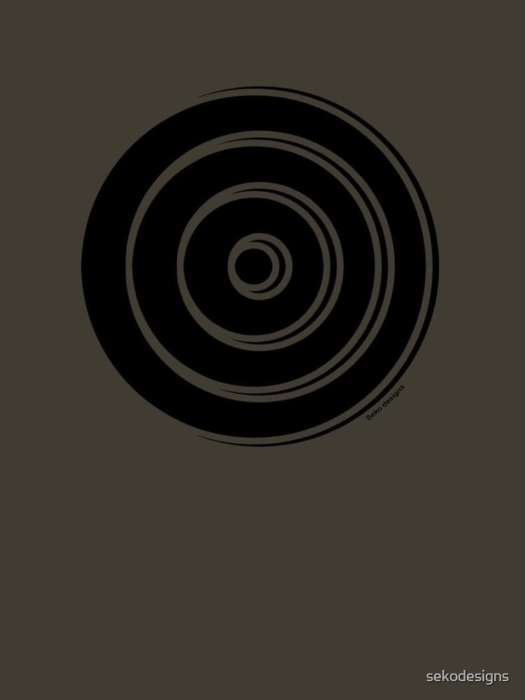Mandala 33 Back In Black by sekodesigns