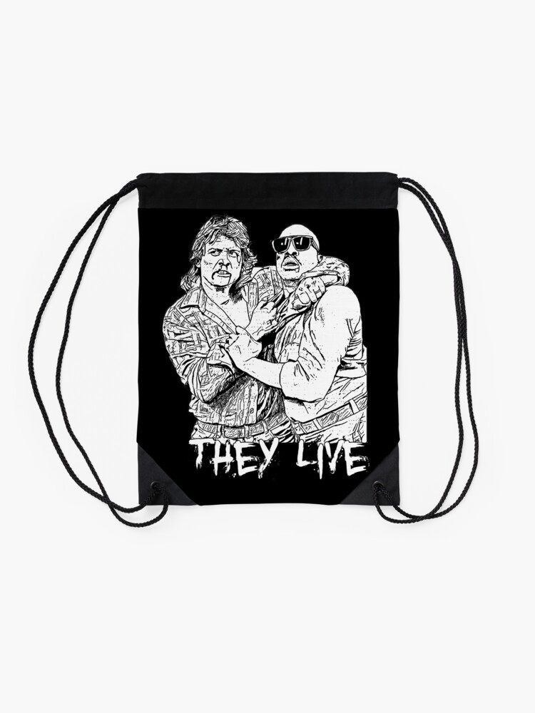 Alternate view of they live Drawstring Bag