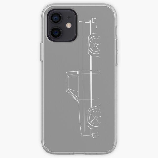 1987 C-10 Silverado - profile stencil, white iPhone Soft Case