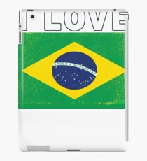 I Love Brasil Football Fan for Brazil iPad Case/Skin