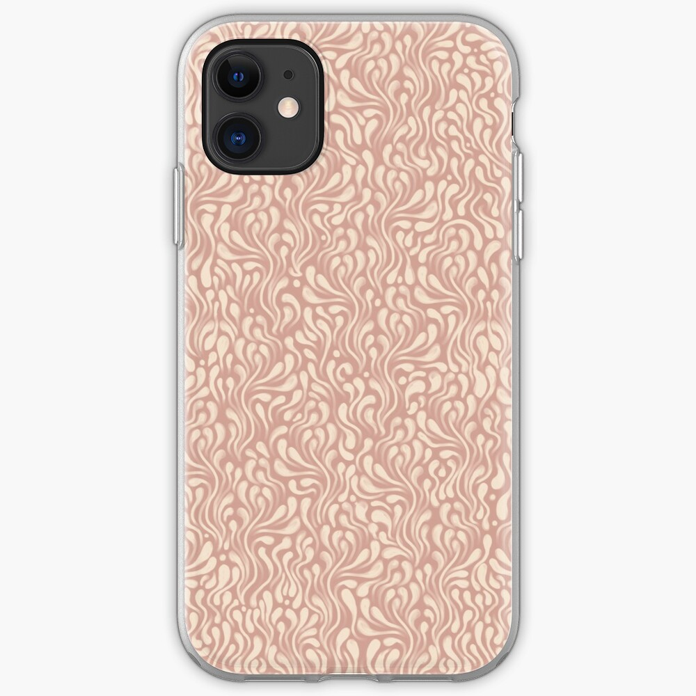 Pink & Cream Wavy Pattern iPhone Case & Cover