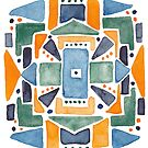 Geometric Watercolor by Laura Maxwell