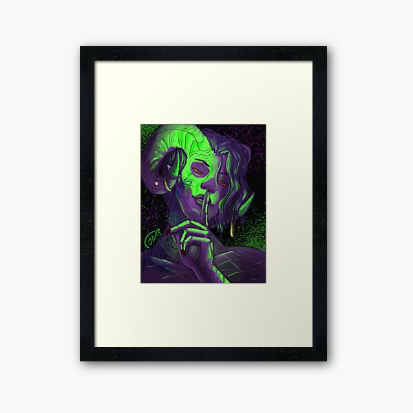 Blood secret Framed Art Print