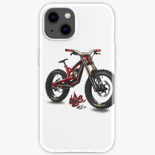 comic style mtb bike. Snide art iPhone Soft Case
