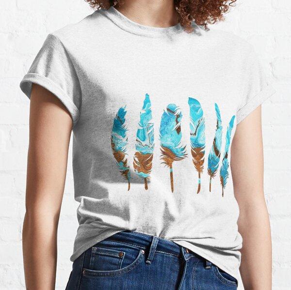 Birds of a Feather: Aqua & Teal Classic T-Shirt
