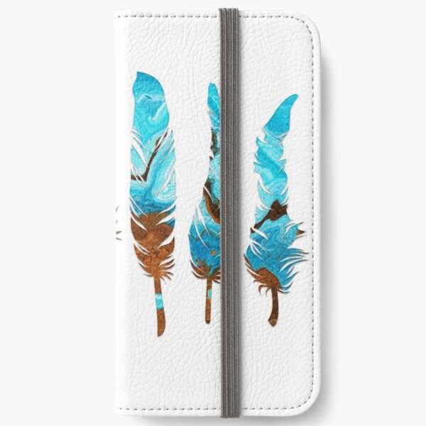 Birds of a Feather: Aqua & Teal iPhone Wallet
