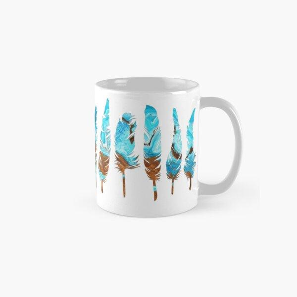 Birds of a Feather: Aqua & Teal Classic Mug