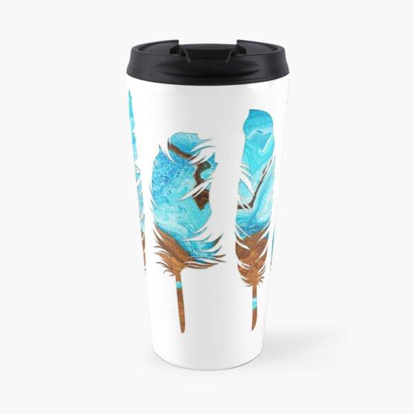 Birds of a Feather: Aqua & Teal Travel Mug
