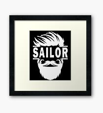 Boat Belt Buckle - Boat Cake Topper - Boat Captain Gift - Funny Sailor - Fondant Sailboat - Sailboat Wall Decal - Sailboat Belt Buckle - Sai Framed Print