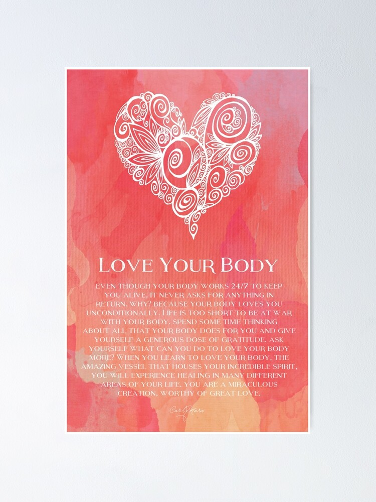 Alternate view of Love Your Body Poster