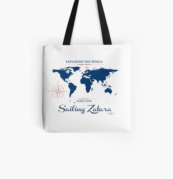Zatara World Map All Over Print Tote Bag