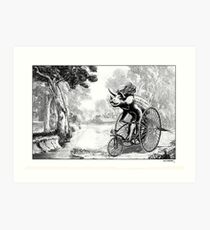 Triceratops on a Tricycle Art Print