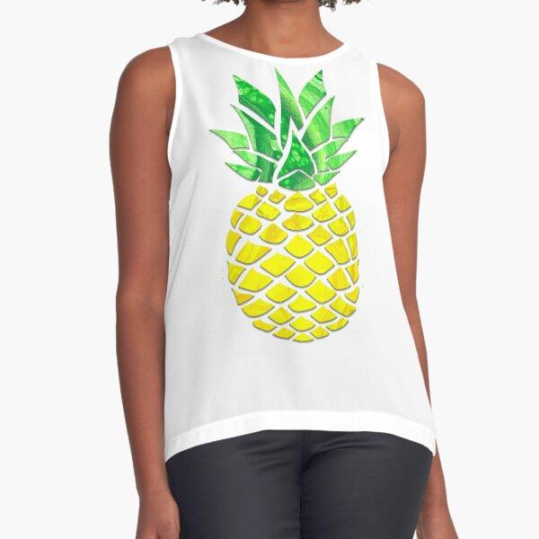 Pineapple Acrylic Pour Sleeveless Top