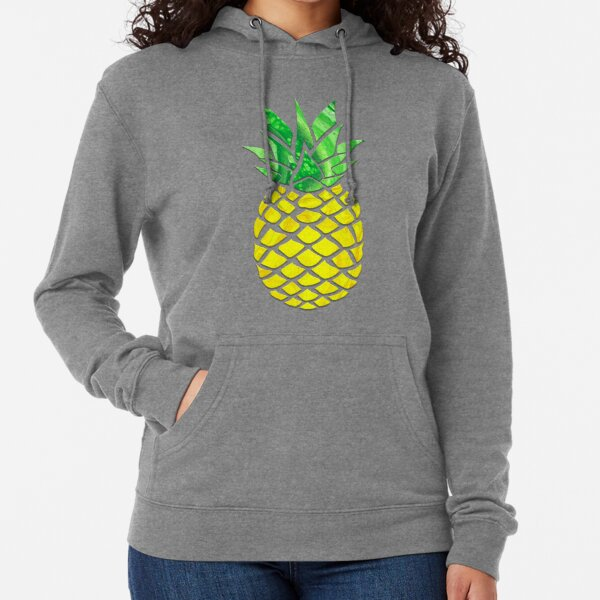 Pineapple Acrylic Pour Lightweight Hoodie