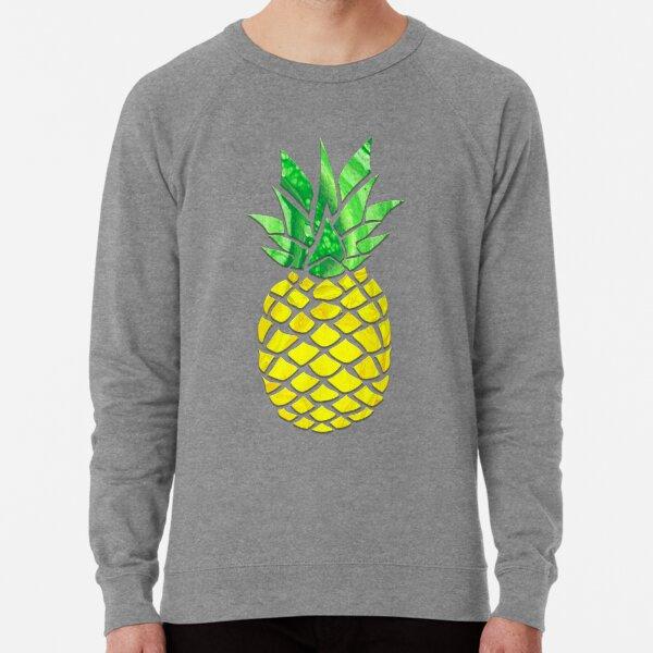 Pineapple Acrylic Pour Lightweight Sweatshirt