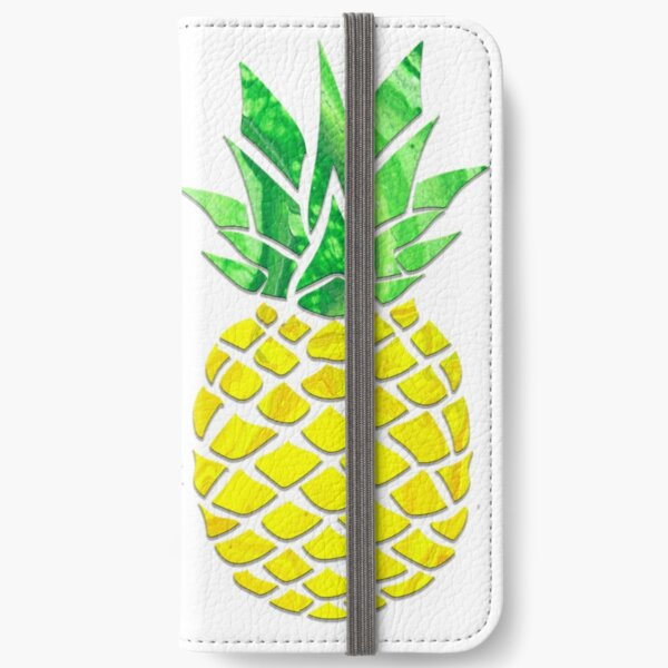 Pineapple Acrylic Pour iPhone Wallet