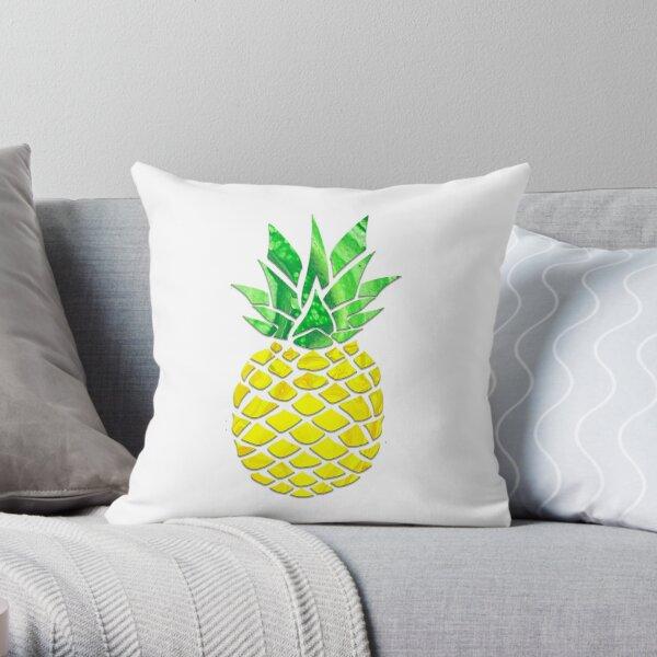 Pineapple Acrylic Pour Throw Pillow