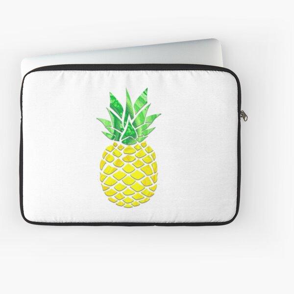 Pineapple Acrylic Pour Laptop Sleeve