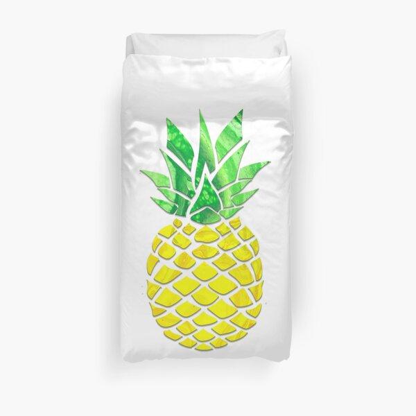 Pineapple Acrylic Pour Duvet Cover