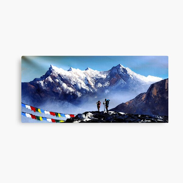 Panoramic View Of Ama Dablam Peak Everest Mountain Canvas Print