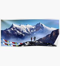 Panoramic View Of Ama Dablam Peak Everest Mountain Poster