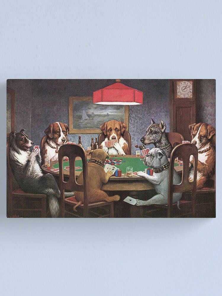 Alternate view of Dogs Playing Poker Canvas Print