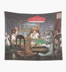 Dogs Playing Poker Wall Tapestry