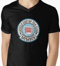 Lovely Cup of Tea Club Member Men's V-Neck T-Shirt