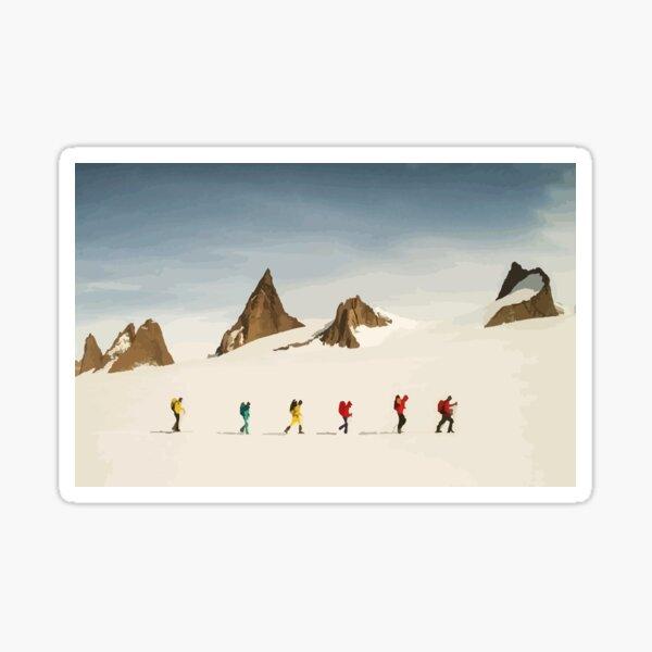 Face nord, vecteur, expédition antarctique Sticker