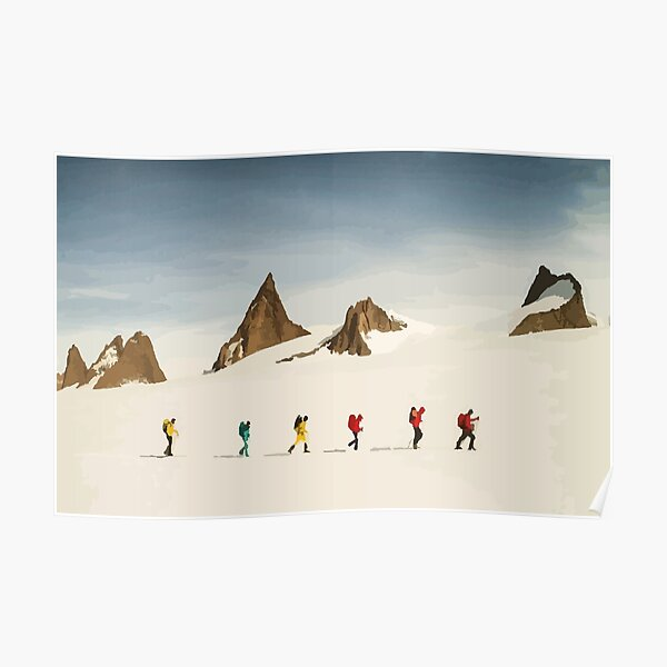 North Face Antarctic Expedition Vector Poster