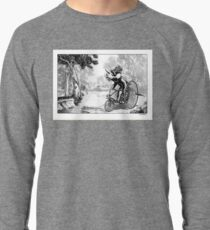 Triceratops on a Tricycle Lightweight Sweatshirt