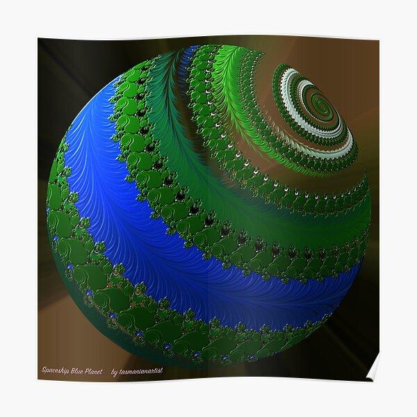 D1G1TAL-M00DZ ~ GALLIMAUFRY ~ Spaceship Blue Planet by tasmanianartist Poster