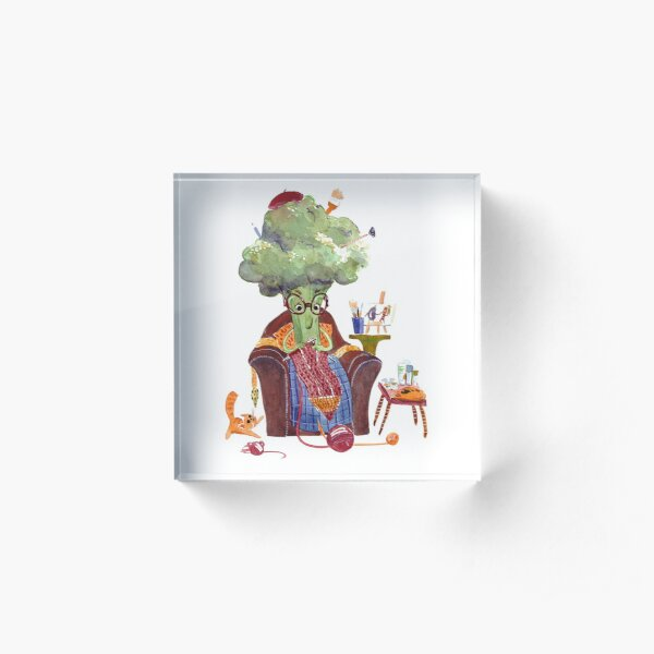 Grandma Broccolina Acrylic Block