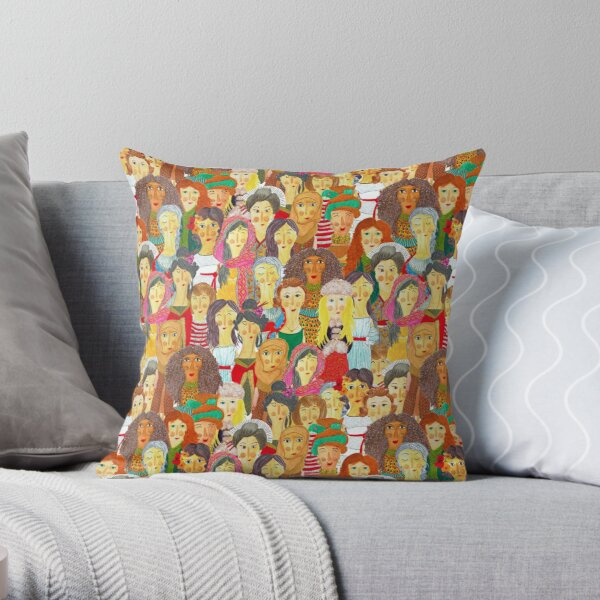 Pattern #75 - The gaze of sisterhood Throw Pillow