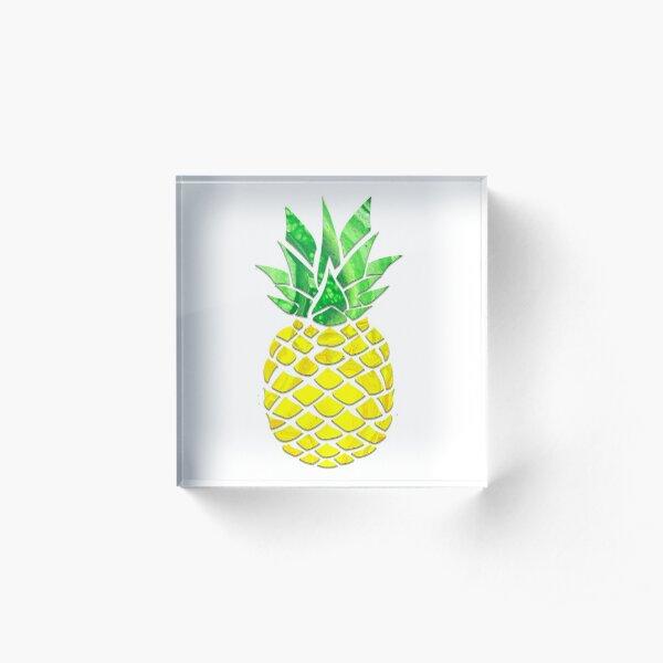 Pineapple Acrylic Pour Acrylic Block