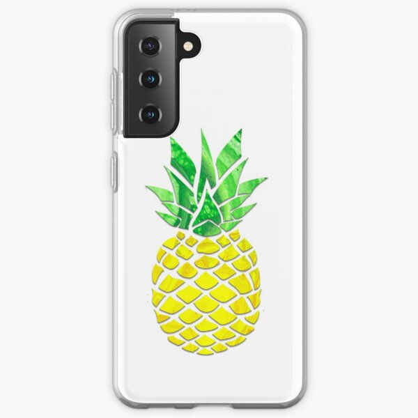 Pineapple Acrylic Pour Samsung Galaxy Soft Case