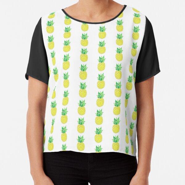 Pineapple Acrylic Pour Chiffon Top