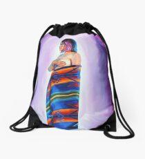 Purple Planets, Connection Drawstring Bag