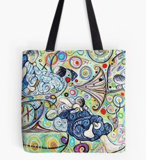 Let's Roll - Jiu-Jitsu - Bjj Art - Painting By Kim Dean Tote Bag