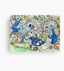 Let's Roll - Jiu-Jitsu - Bjj Art - Painting By Kim Dean Canvas Print