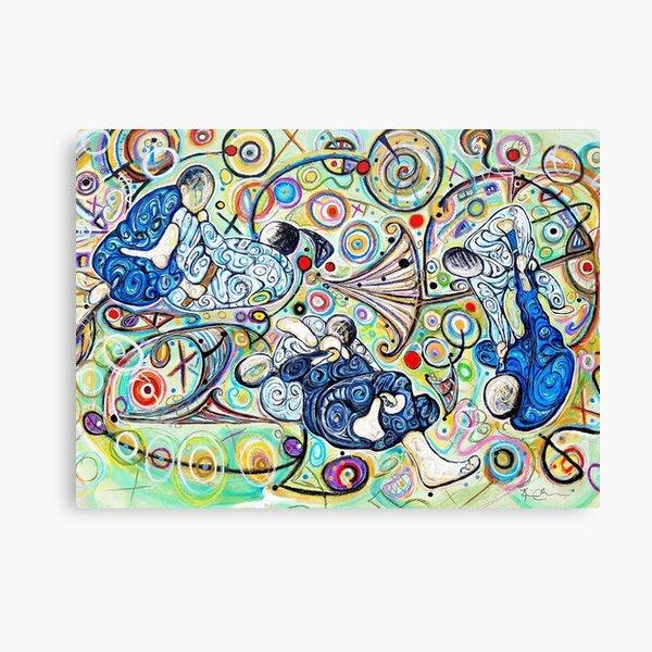 Let's Roll - Jiu-Jitsu - BJJ Art - Original Painting By Kim Dean Canvas Print