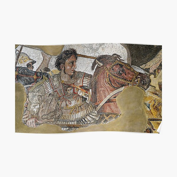 Alexander The Great Mosaic  Poster