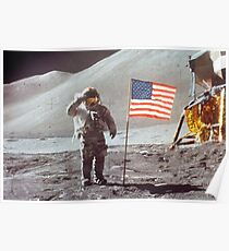 Amerikanische Mondlandung Poster